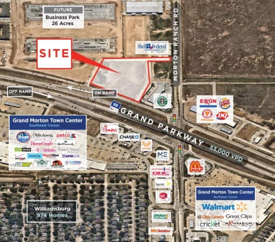 The new retail development will be located at one of Katy's busiest intersections. (Courtesy of NewQuest Properties)