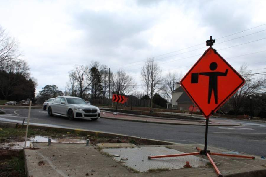 Final paving on Rucker Road could be completed before May 1 as long as weather permits, Alpharetta city officials said in a Facebook post April 21. (Kara McIntyre/Community Impact Newspaper)