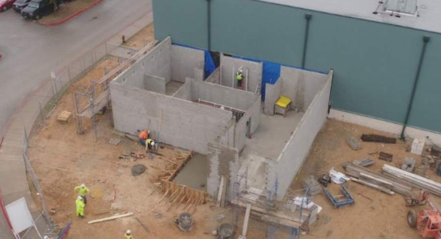 Construction at Cedar Park High School is pictured in this 2019 file photo. (Courtesy Leander ISD)