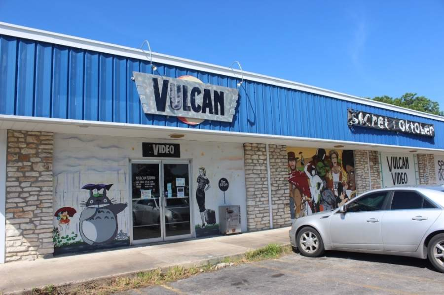 Vulcan Video's last location, on Russell Street in South Austin, has closed. (Olivia Aldridge/Community Impact Newspaper)