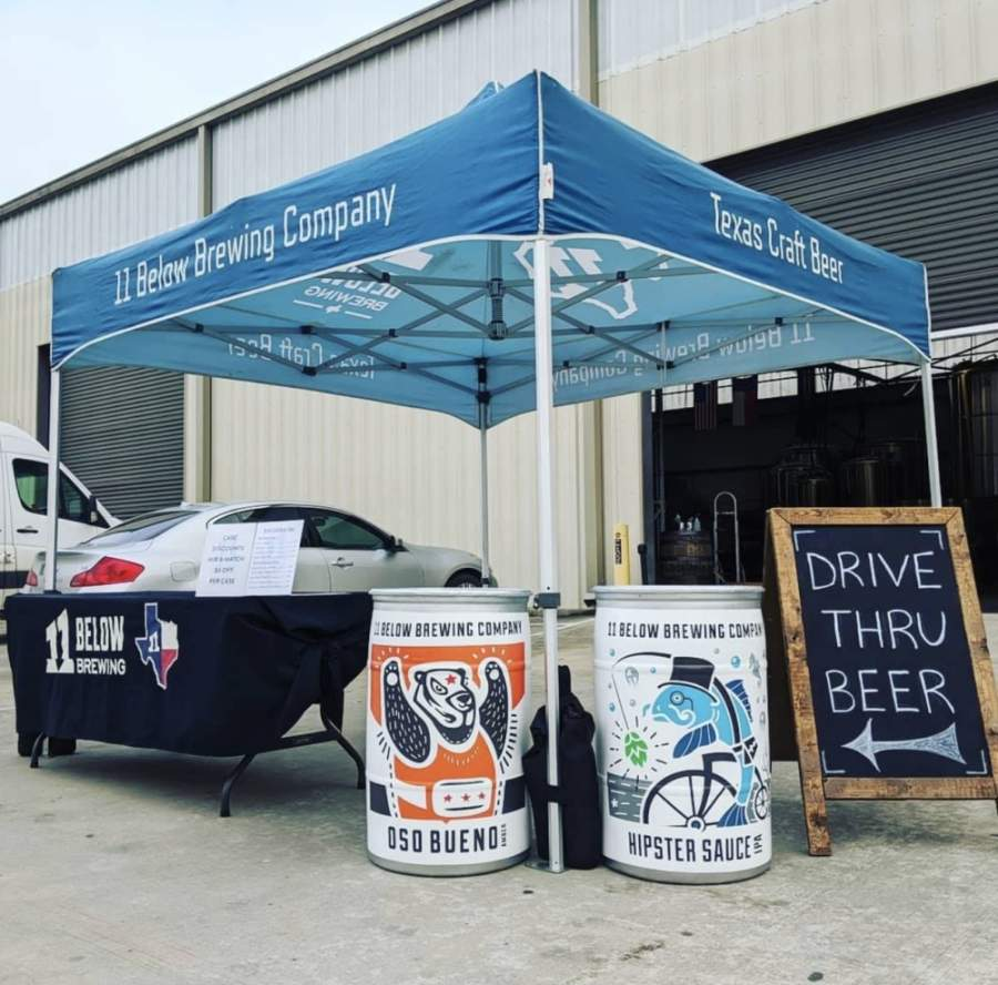 Beer enthusiasts can pick up beverages at 11 Below Brewing Company's drive thru. (Courtesy 11 Below Brewing Company)