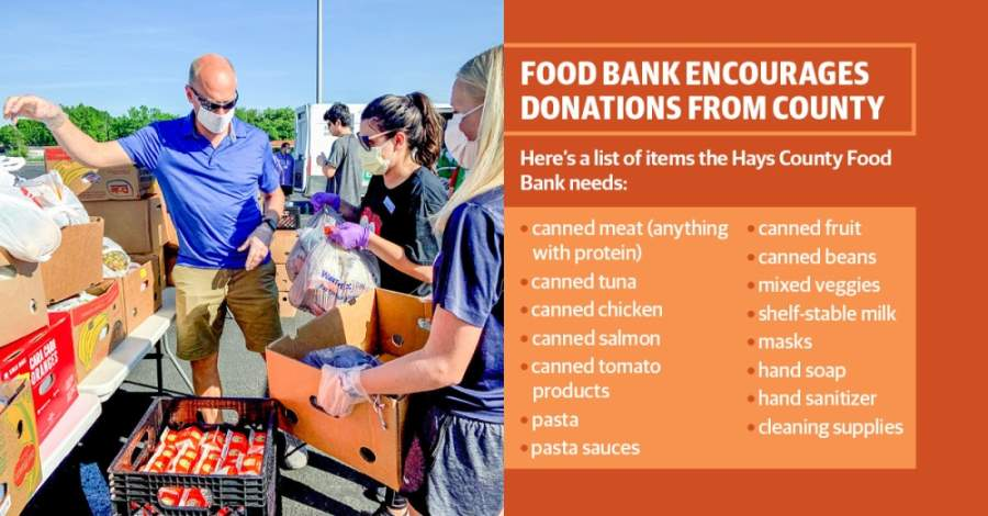 The nonprofit has stopped picking up donations from local businesses and other vendors as a safety precaution, and it is relying on the Central Texas Food Bank and the community to fulfill the need for food in the county. (Courtesy Hays County Food Bank)