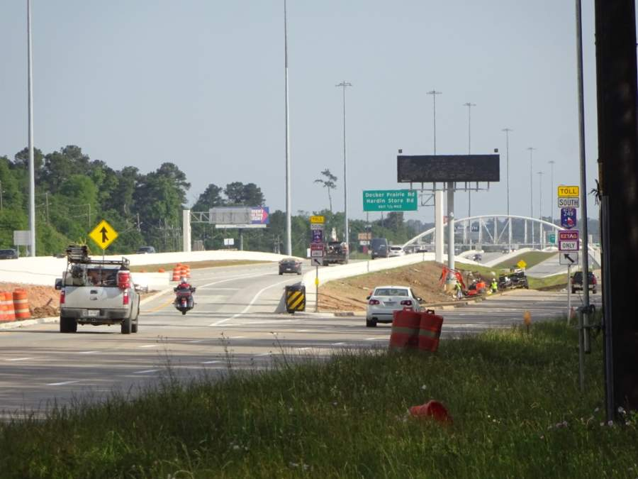 New lanes are now open on the first Montgomery County portion of Hwy. 249. (April Halpin/Community Impact Newspaper)