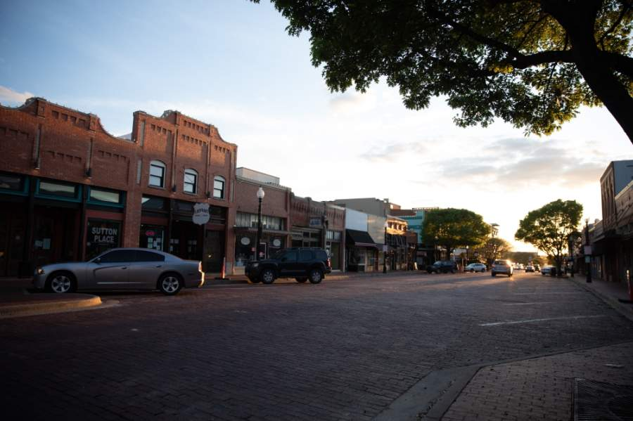 Some businesses in downtown Plano will partially reopen April 24 to offer curbside retail service. (Liesbeth Powers/Community Impact Newspaper)