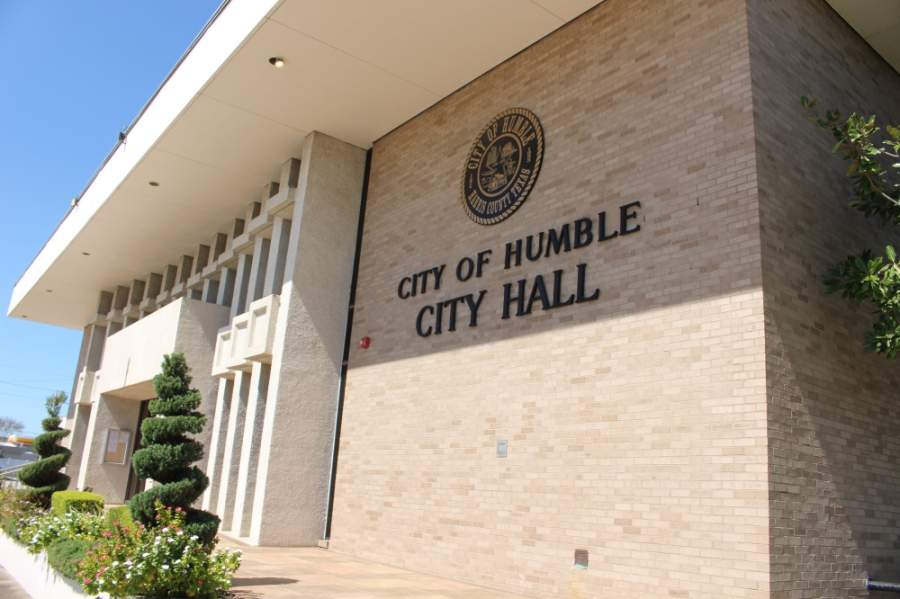Humble City Council met at city hall on April 23 for its regular meeting. The meeting was videoconferenced. (Kelly Schafler/Community Impact Newspaper)