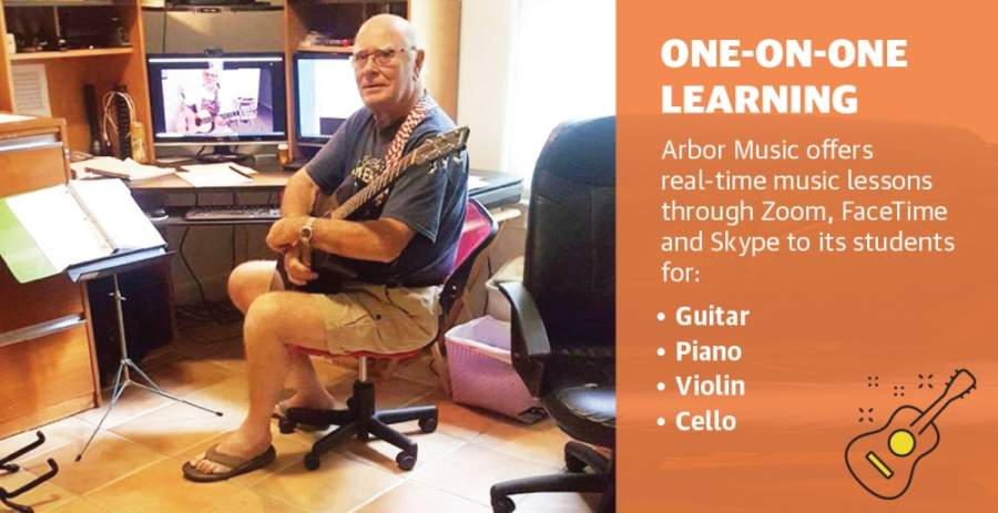 Arbor Music has shifted to doing online lessons for its students. (Courtesy Arbor Music)