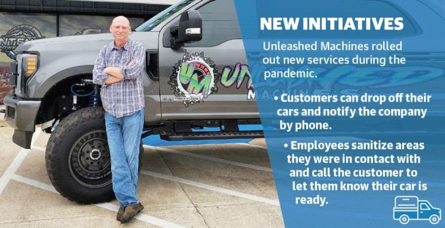 Unleashed Machines has rolled out a system of no contact drop-off and pick up of vehicles. (Courtesy Unleashed Machines)
