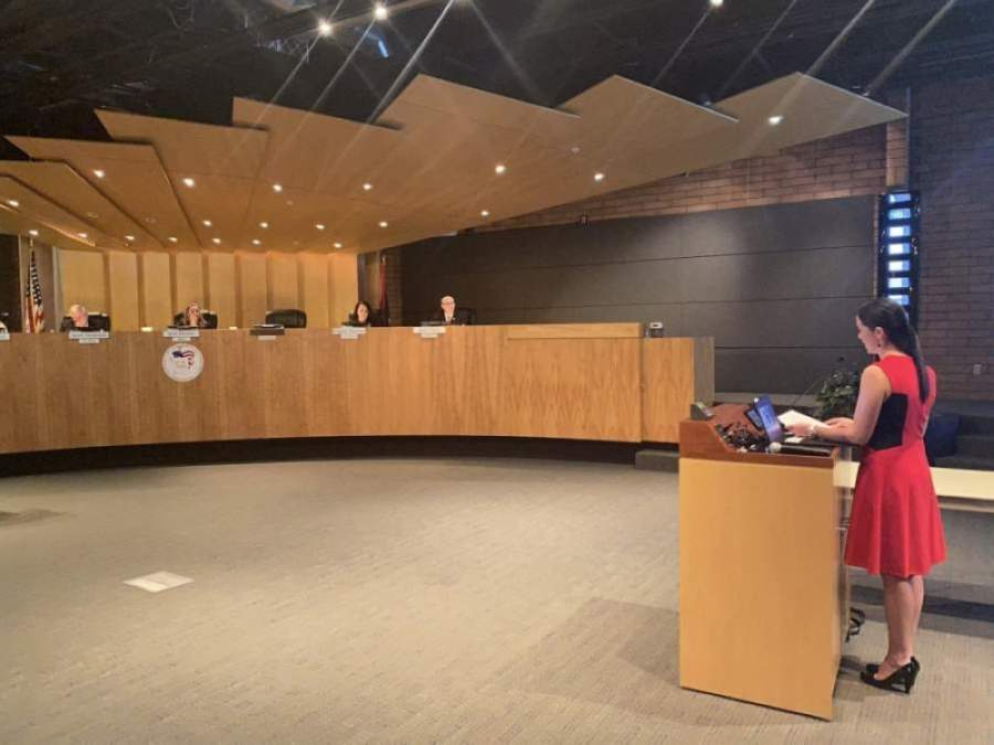 Much of Yung Koprowski's interview with the Gilbert Town Council on March 17 focused on her transportation experience. She was appointed to council April 21. (Courtesy Town of Gilbert)