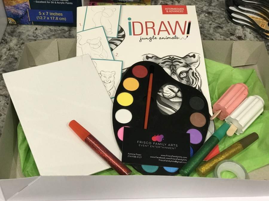 DIY art kits can come with a variety of materials based on interests and age. (Courtesy Frisco Family Arts)