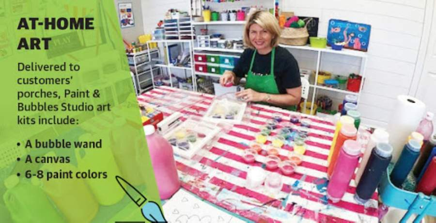 Owner Rachel Alarid said Paint & Bubbles Studio's customers have been supportive of take-home art kits. (Courtesy Paint & Bubbles Studio)