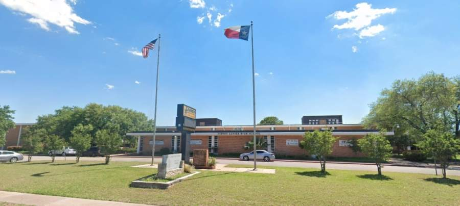 Austin Voices for Education and Youth will distribute 1,200 new books to families and students at Navarro Early College High School on April 27. (Screenshot courtesy Google Street)