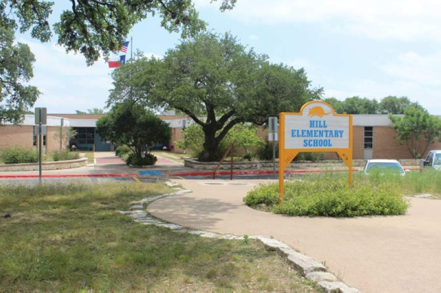 Modernization improvements at Hill Elementary School, pictured here, will begin May 1. (Community Impact Newspaper staff)