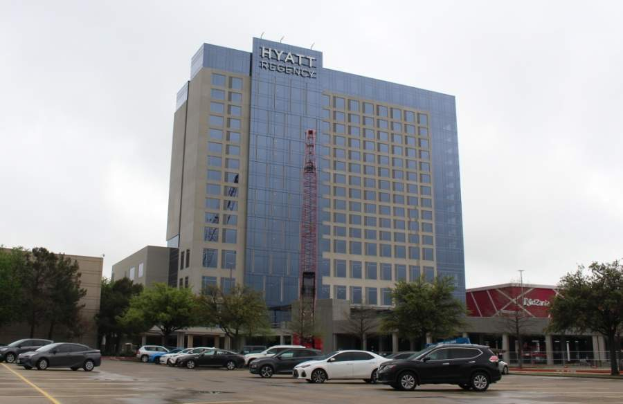 The Hyatt Regency Frisco hotel, which is attached to Stonebriar Centre, plans to open its doors June 1. The 303-room hotel, located between Dillard's and Nordstrom, will also include 27,500 square feet of meeting space. (Elizabeth Uclés/Community Impact Newspaper)