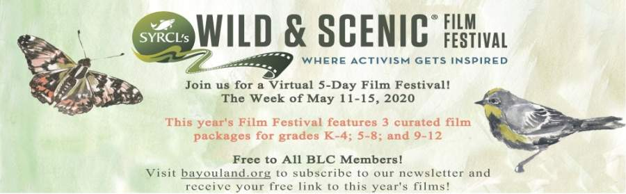 The virtual festival is free to anyone who is interested, and each of the three video packages will be available to watch from May 11-15. (Courtesy Bayou Land Conservancy)