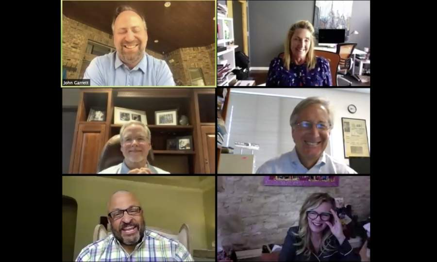 Entrepreneurs Amy Simmons, Bobby Jenkins, JT McCormick, Scott Click and Conni Reed joined Community Impact Newspaper founder John Garrett to discuss ongoing struggles, changes and lessons from the pandemic.