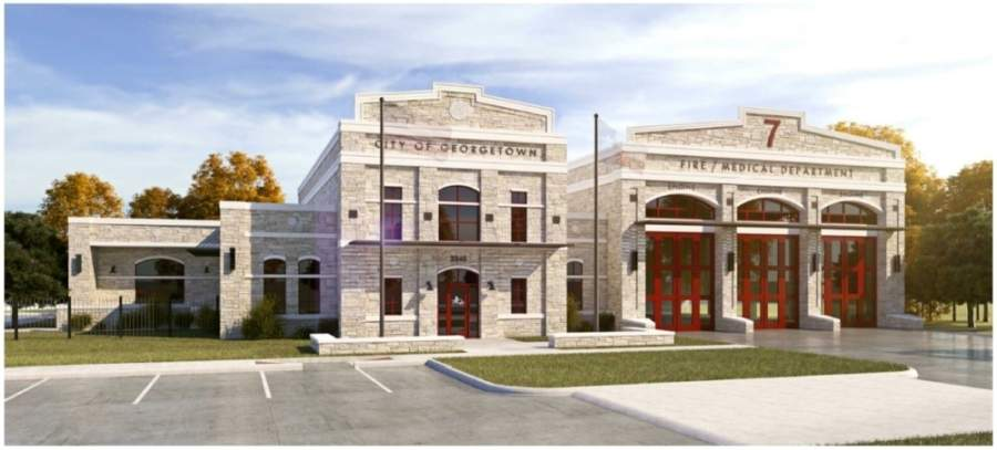 The operation of the new Fire Station No. 7 at 2711 E. University Ave., Georgetown, is on hold. (Courtesy city of Georgetown)