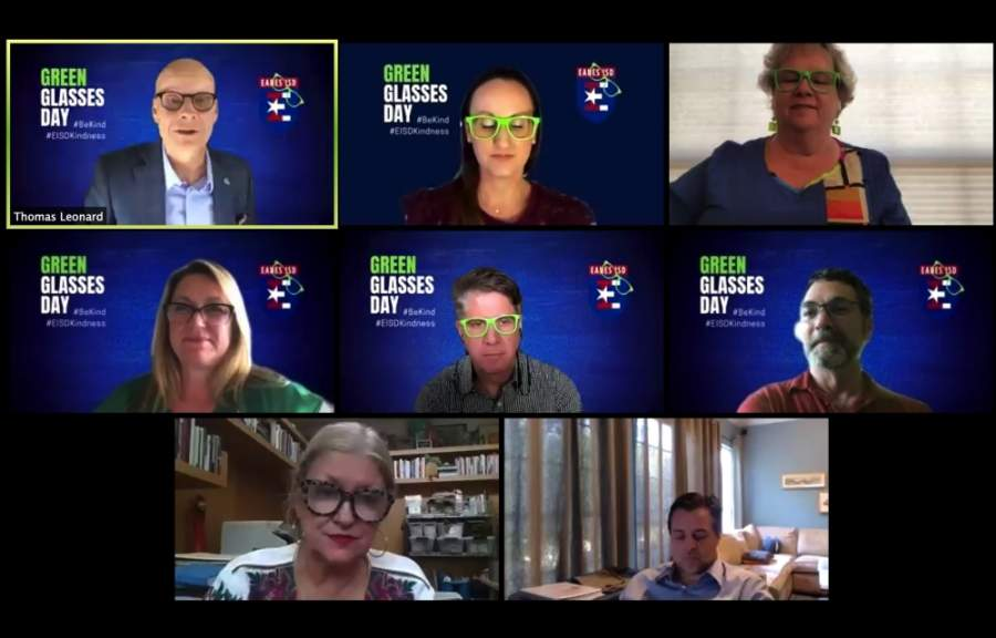Trustees met virtually April 28 for a regular monthly board meeting. (Courtesy Eanes ISD)