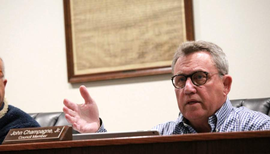 Council Member John Champagne clashed with other members of the Montgomery City Council during a virtual meeting April 28. (Andy Li/Community Impact Newspaper)