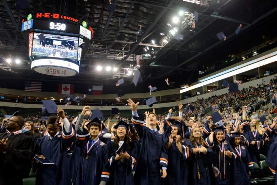 Glenn High School's Class of 2019 celebrates at the H-E-B Center at Cedar Park. (Courtesy Leander ISD)