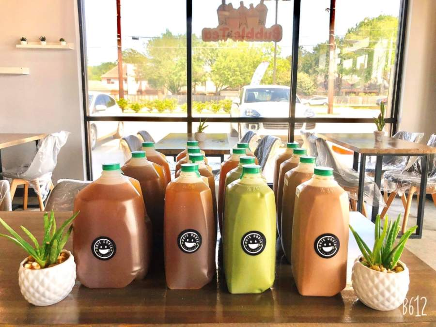 During the corovnairus pandemic, Okie Dokie Teahouse has been only selling drinking by the gallon and half gallon for safety reasons via curbside pickup. (Courtesy Okie Dokie Teahouse)