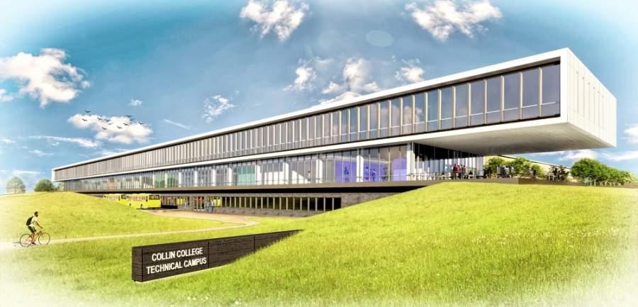 The Collin College Technical Campus is located in Allen and will offer courses to Plano ISD students in conjunction with the district's Industries Academy program. (Rendering courtesy Collin College)