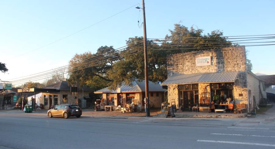 A photo of Mercer Street in Dripping Springs