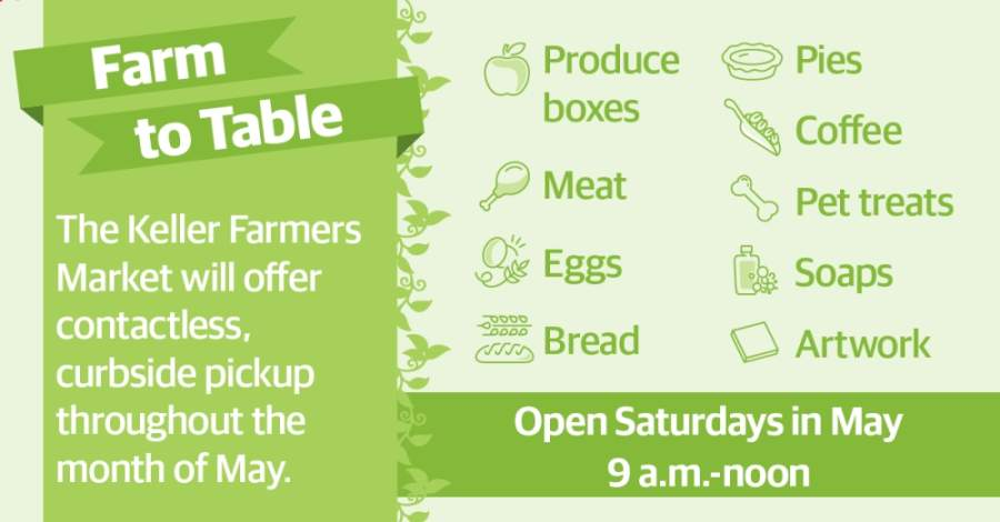 Keller Farmers Market offering to-go options beginning May 2