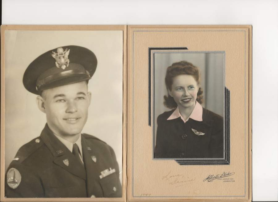 After meeting on a blind date, Carl and Denise Starnes were married May 5, 1945, in Edmonton, Alberta, Canada. Carl served in the U.S. Army during World War II, Korea and Vietnam before retiring in 1971. Denise was a working mother, raising three boys and working as a seamstress. (Courtesy David Starnes)