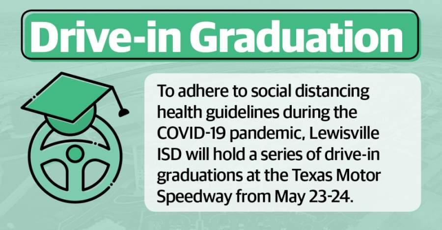 A drive-in graduation is the best overall option for the district, according to Lewisville ISD Superintendent Kevin Rogers. (Katherine Borey/Community Impact Newspaper)