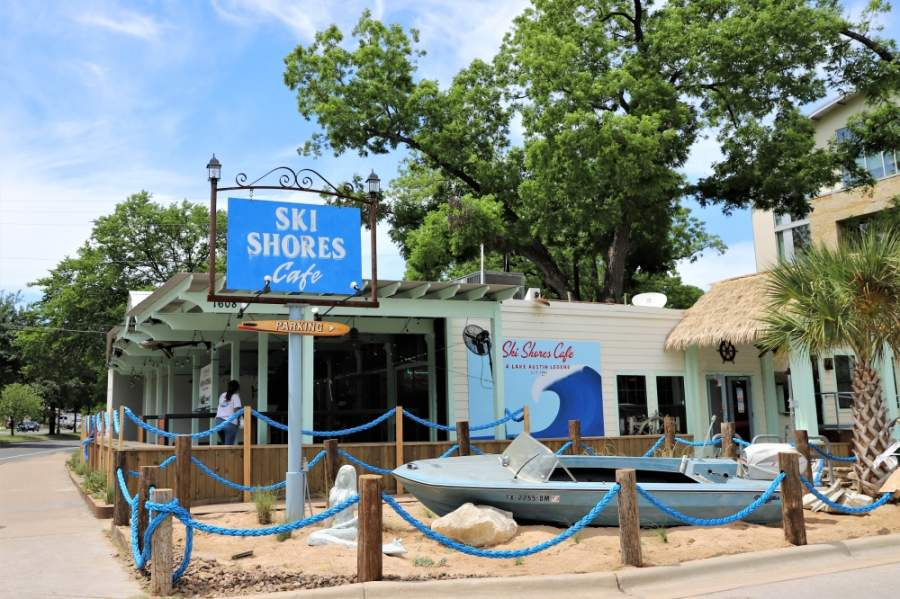 Ski Shores Cafe opened its Barton Springs Road May 1 for dine-in and take-out service. (Courtesy Ski Shores Cafe)