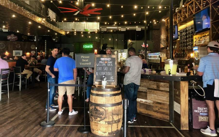 CRAFThouse Kitchen & Tap is one of the restaurants in San Marcos that has decided to reopen at 25% capacity per Gov. Greg Abbott's order issued April 27. (Evelin Garcia/ Community Impact Newspaper)