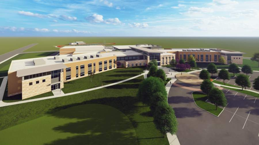 Pflugerville ISD on May 1 announced Jorge Franco will serve as the first-ever principal at the district's seventh middle school. The middle school, which is currently under construction, will open to students in fall 2021. (Rendering courtesy Pflugerville ISD)