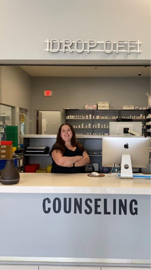 "Kynsi Hamilton said she finds compounding to be stimulating work. ""There's a lot of math involved in it and you're just constantly learning and a lot of problem solving, too,"" she said."