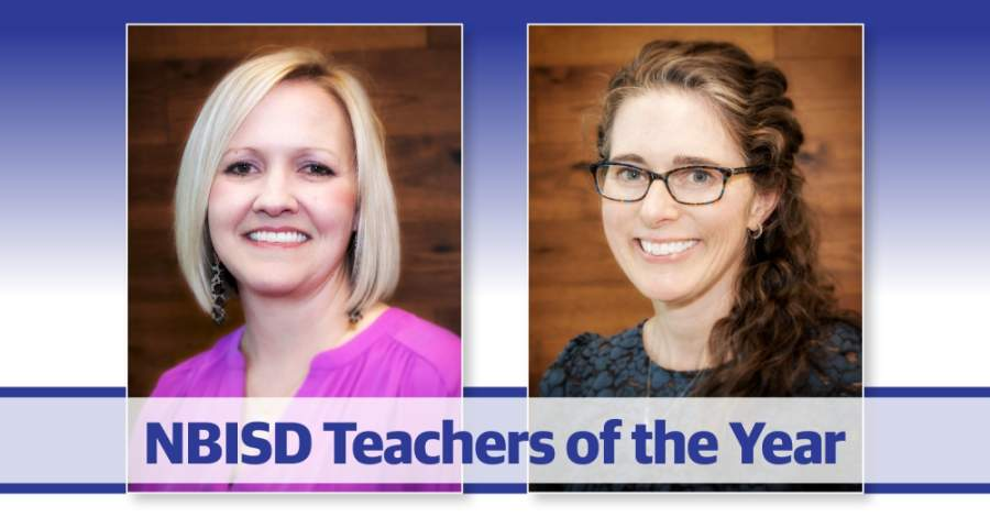 Kari Cooper and Melanie Brown were named NBISD 2020 District Teachers of the Year. (Courtesy New Braunfels ISD/Chance Flowers)