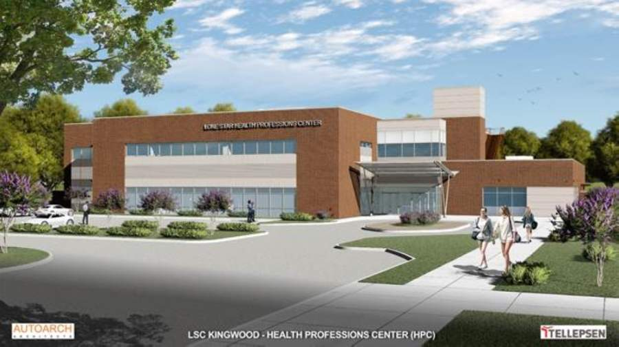 Lone Star College-Kingwood broke ground March 2 on an $25.6 million health professions center, which is the campus's last major project in a multimillion-dollar bond referendum. (Courtesy Lone Star College System)