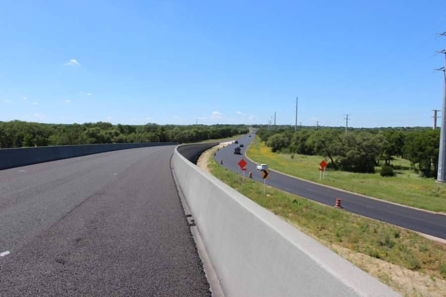 The Sh 45 SW toll exit connects to MoPac South and the free section of SH 45 in South Austin. (Nicholas Cicale/Community Impact Newspaper)