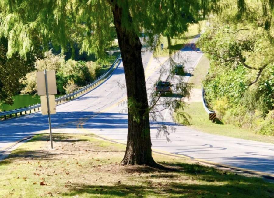 One of the proposed projects for the Lakeway Trail Connectivity Plan is to begin a sidewalk at the top of the hill at Top of the Lake Drive and end at the top of the next hill at Cold Water Lane. (Screenshot courtesy city of Lakeway)