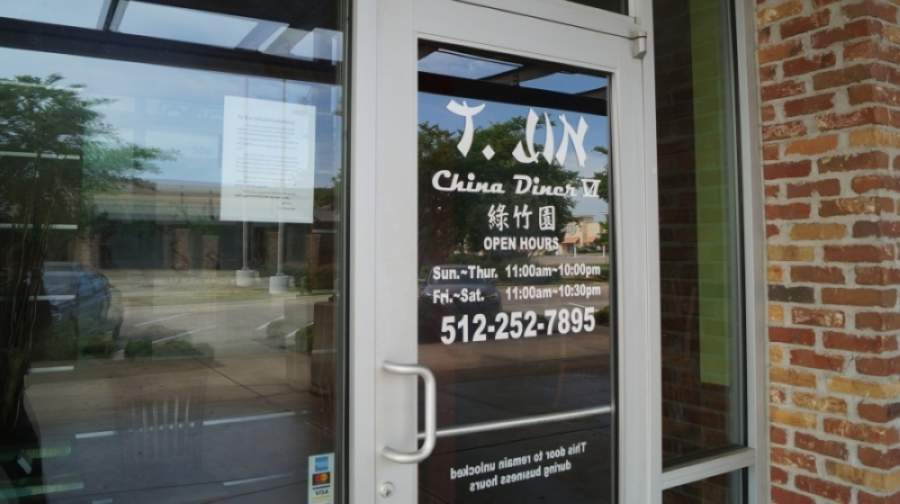 T.Jin's dining room remains closed, and the restaurant will offer no-contact pickup and delivery services. (Kelsey Thompson/Community Impact Newspaper)