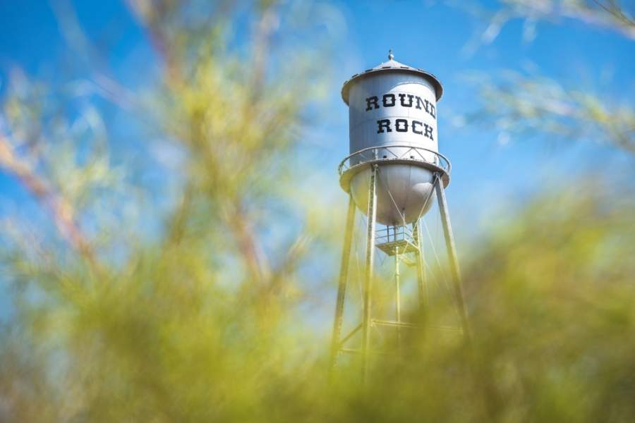 In honor of the class of 2020, the city of Round Rock will light up its historic water tower with the colors of Round Rock ISD's high schools. (Courtesy city of Round Rock)