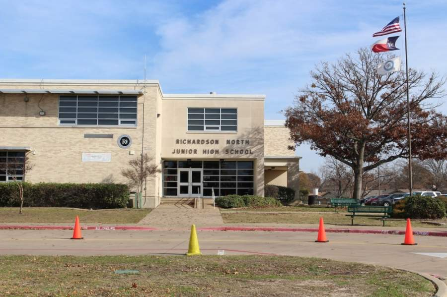 Richardson North is one of eight junior high campuses in Richardson ISD. (Olivia Lueckemeyer/Community Impact Newspaper)