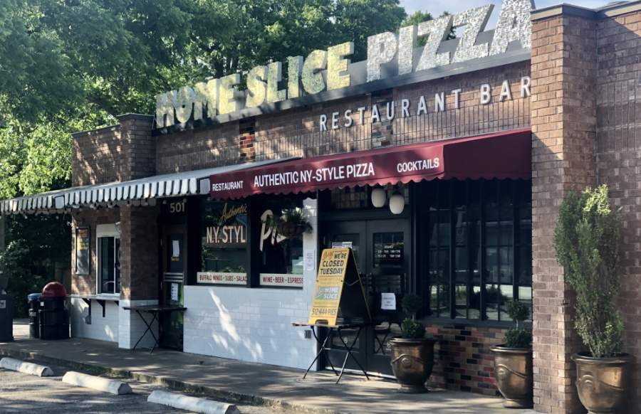 The Home Slice Pizza location on E. 53rd St. is closed temporarily. (Jack Flagler/Community Impact Newspaper)