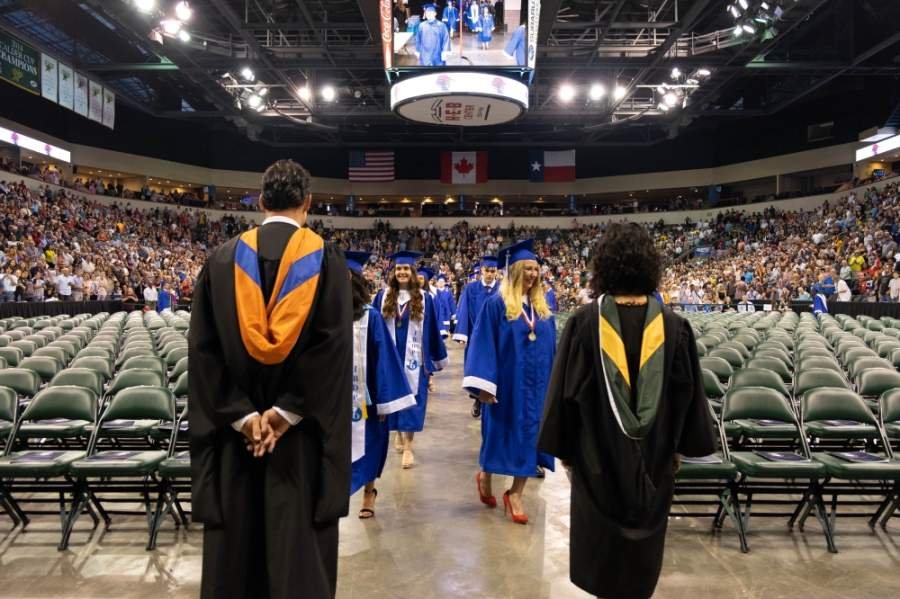 The Texas Education Agency on May 5 released a five-page document that outlines allowable procedures for graduation ceremonies. Ceremonies at indoor facilities, such as Leander ISD's 2019 ceremony, are not included in the state's guidelines on graduation events. (Courtesy Leander ISD)