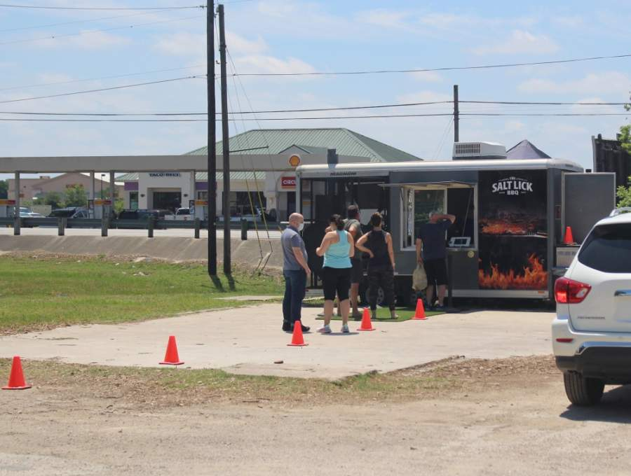 Driftwood-based Salt Lick BBQ has been operating a food truck at The Triangle in downtown Dripping Springs. (Nicholas Cicale/Community Impact Newspaper)