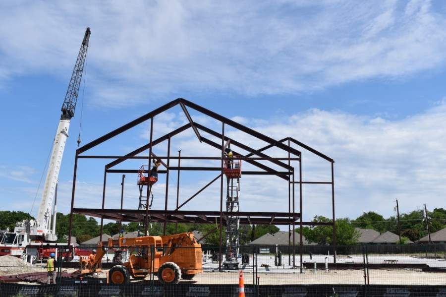 The Family Health Center at Virginia Parkway is making progress for a late summer opening. (Courtesy Family Health Center at Virginia Parkway)
