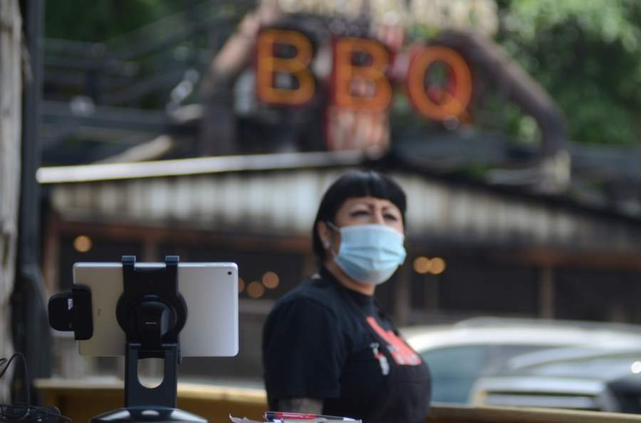 Terry Black's BBQ reopened its dining room May 1. (John Cox/Community Impact Newspaper)
