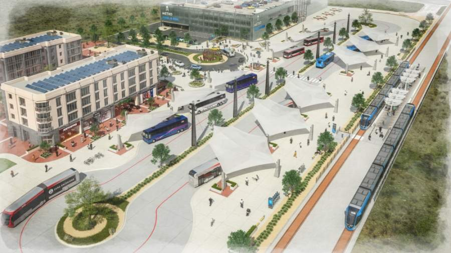 Renderings released by Capital Metro in March show a concept for a regional transportation center. (Rendering courtesy Capital Metro)