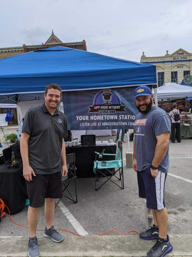 Rob Hipp (left) and John Montgomery took ownership of Hello Georgetown on May 1. (Courtesy Rob Hipp)