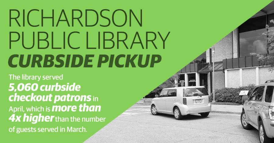 More than 5,000 patrons used the service last month, which is four times higher than the number of curbside visitors between March 17-31, data shows.