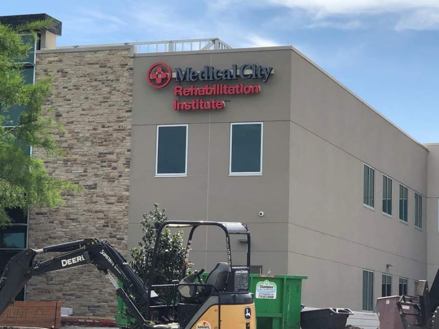 Signs are now on the building for the new Medical City McKinney hospital expansion. (Courtesy Medical City McKinney)