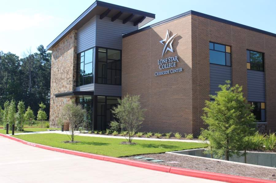 Lone Star College—Creekside Center, located at 8747 W. New Harmony Trail, Tomball, will host a mobile coronavirus testing site from May 11-16. (Anna Lotz/Community Impact Newspaper)